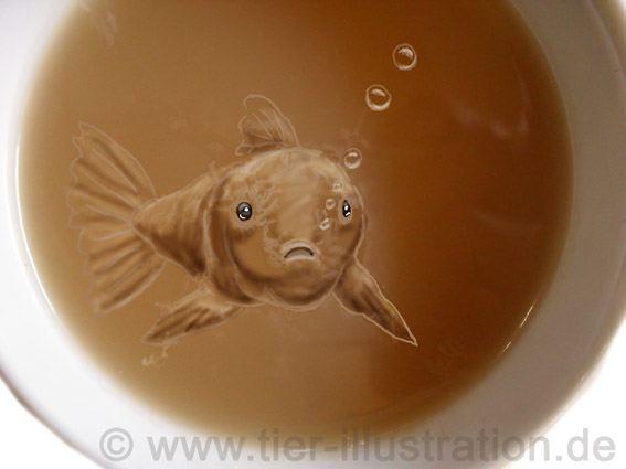 Tee mit Fisch